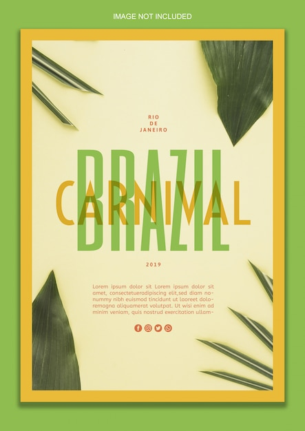 Brazilian carnival poster template Free Psd