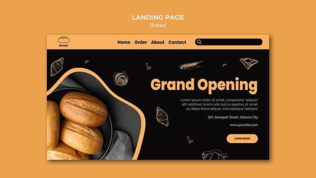 Modello di pagina di destinazione del negozio di pane Psd Gratuite