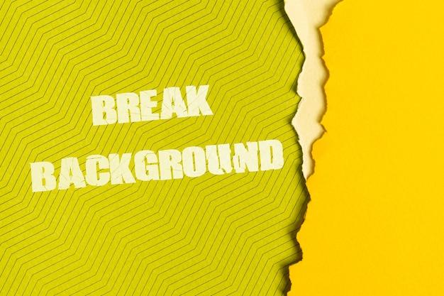 Break background message on cardboard Free Psd