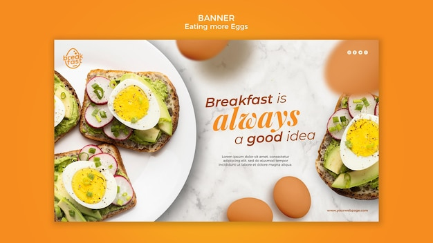 La colazione è sempre un buon modello di banner Psd Gratuite