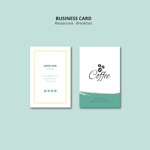 Free Vertical Business Card Template from image.freepik.com