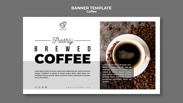 Шаблон заваренного кофейного баннера Бесплатные Psd
