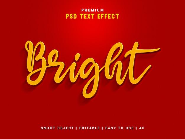 明るいテキスト効果 Premium Psd