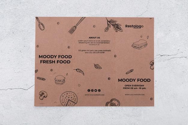 Brochure concept mock-up Free Psd