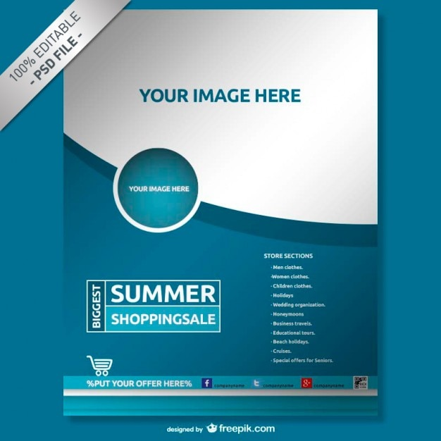 Flyer vectors photos and psd files free download for Brochure design psd templates