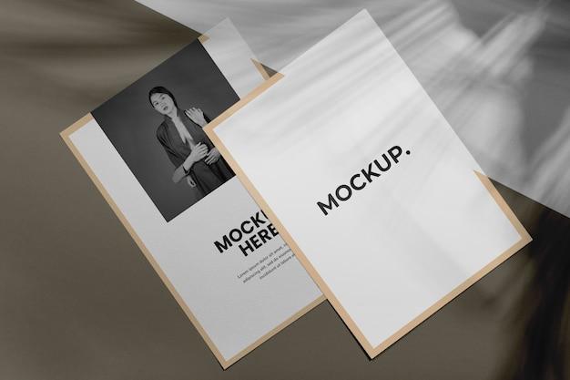 Sovrapposizione dell'ombra dell'opuscolo mock up Psd Gratuite