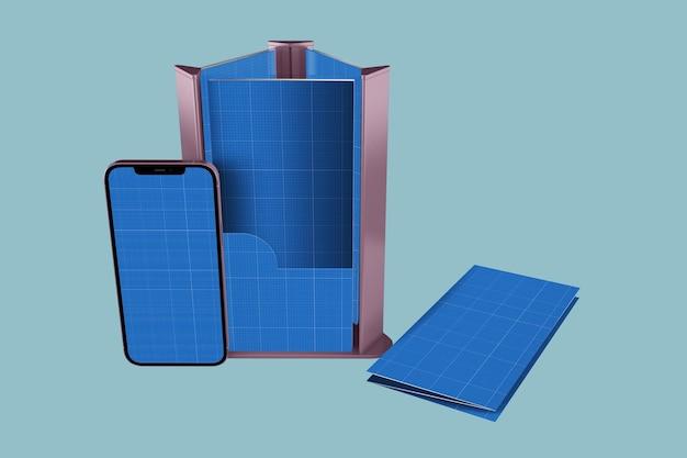 Brochure & smartphone Premium Psd