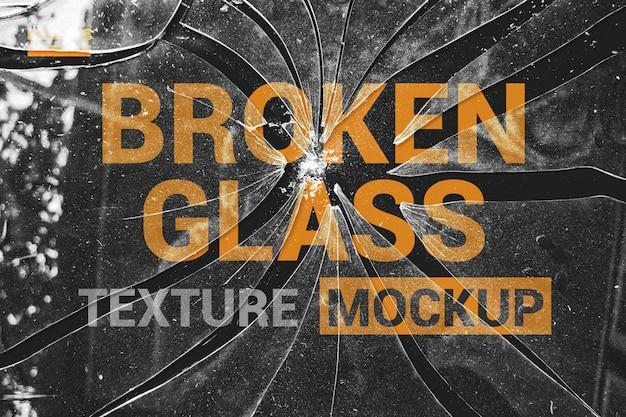 Brocken glass effects mockup Premium Psd