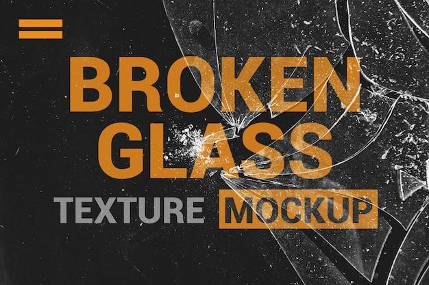 Broken glass texture mockup Premium Psd