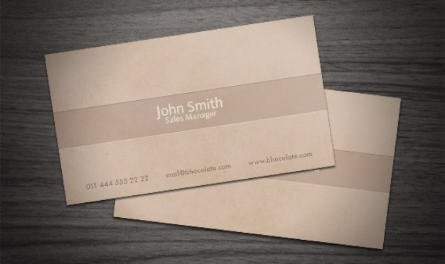 Brown business card Free Psd