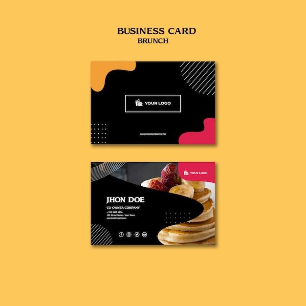 Brunch business card concept template Free Psd