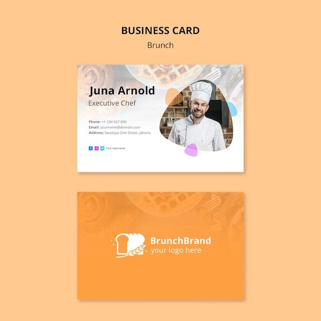 Brunch business card template concept Free Psd