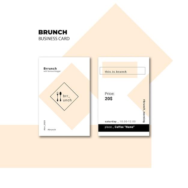 Brunch business card template Free Psd