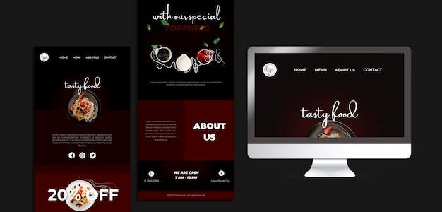 Бранч ресторан дизайн целевой страницы Бесплатные Psd