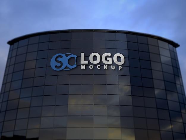 Building logo mockup Premium Psd