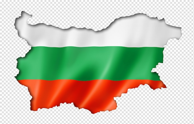 Bulgarian flag map Premium Psd