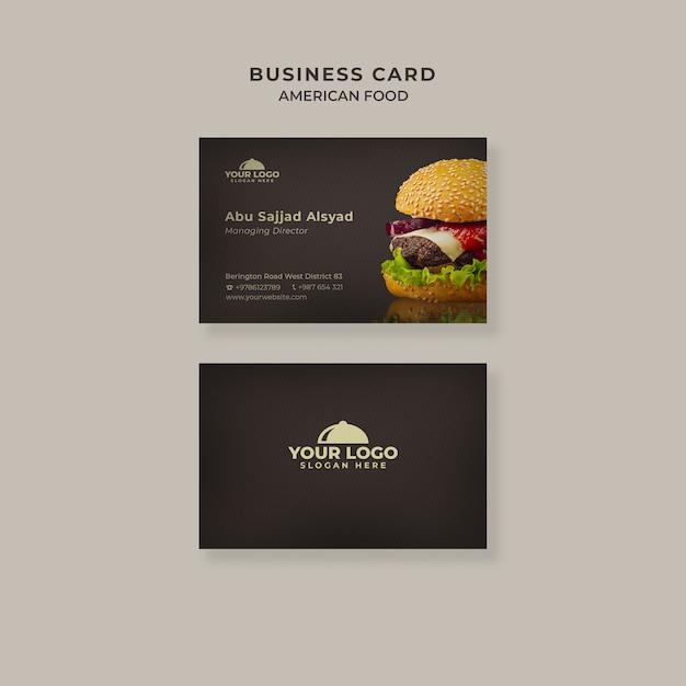 Burger business card template Free Psd