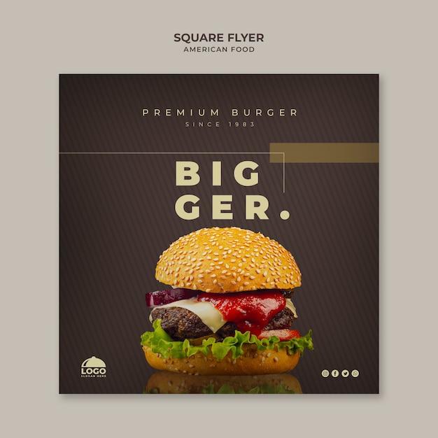 Burger flyer template Free Psd