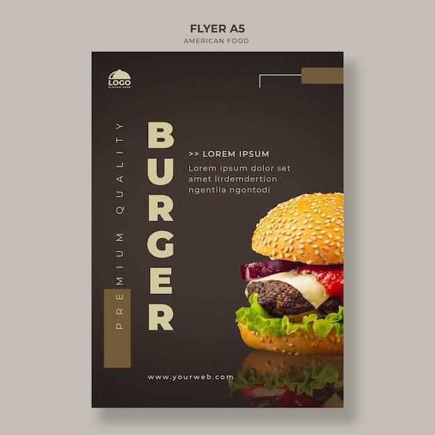ハンバーガーチラシテンプレート Premium Psd