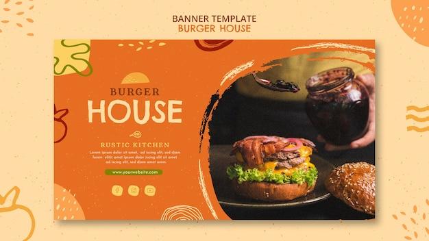 Burger house banner template Free Psd