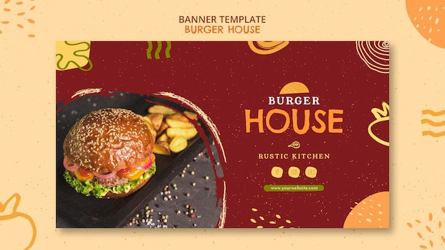Burger house template Free Psd