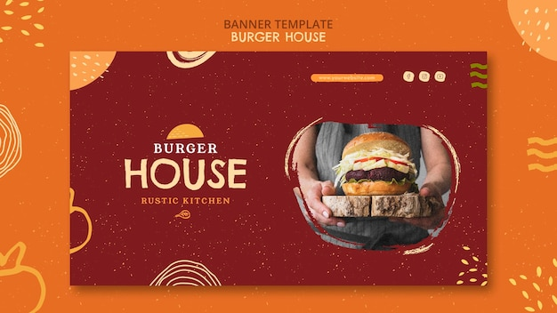 Burger house template Free Psd