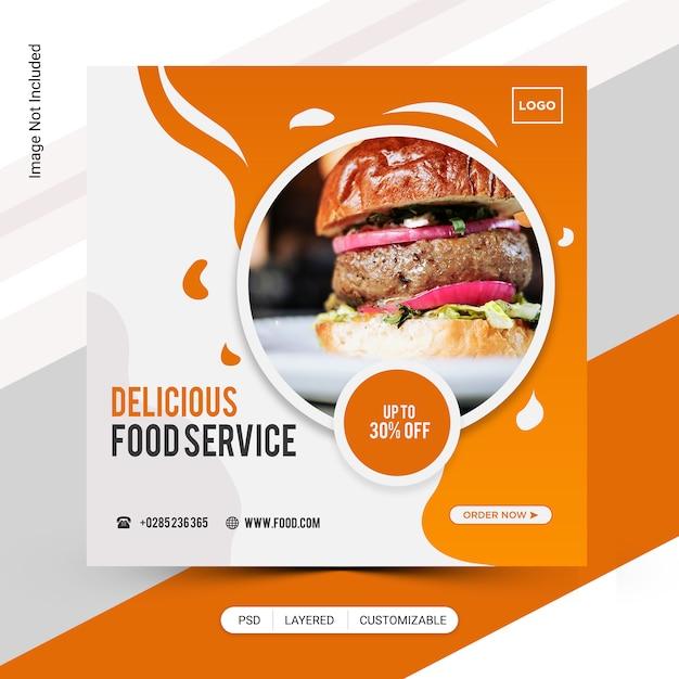 Burger instagram post Premium Psd