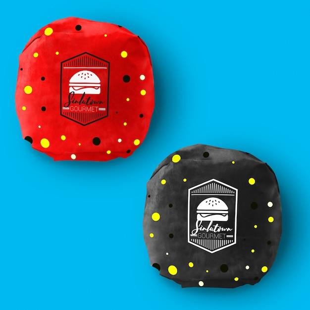 Burger Packaging Mock Up Design Premium Psd File
