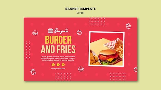 Modello di banner ristorante hamburger Psd Gratuite