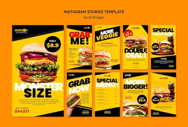 Burger offre storie sui social media Psd Gratuite