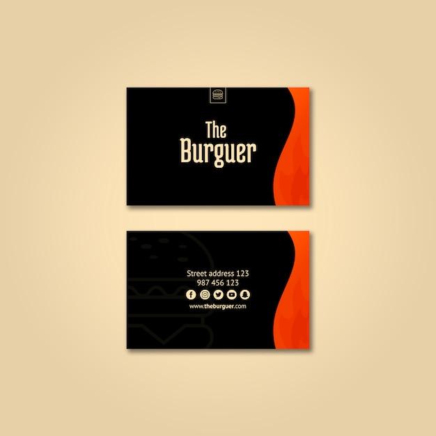 Burguer business card mockup Free Psd