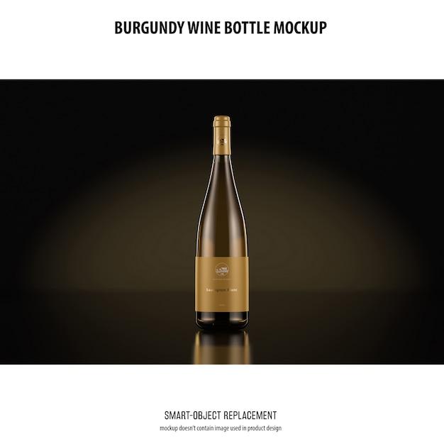 Бургундская винная бутылка макет Бесплатные Psd