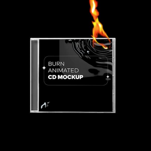 Burn cd cover mockup Premium Psd