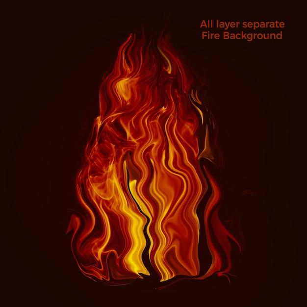 불타는 불 배경 프리미엄 PSD 파일