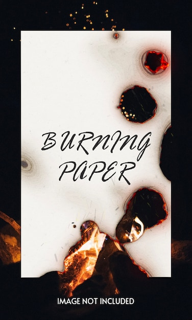 Burning paper mockup Premium Psd