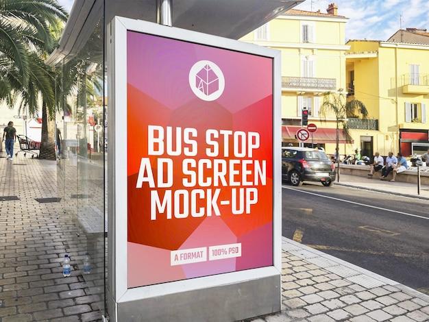 버스 정류장 광고 빌보드 모형 프리미엄 PSD 파일