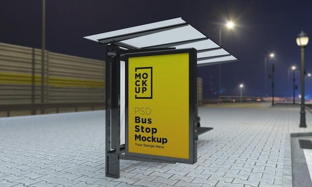 버스 정류장 버스 정류소 기호 모형 3d 렌더링 프리미엄 PSD 파일