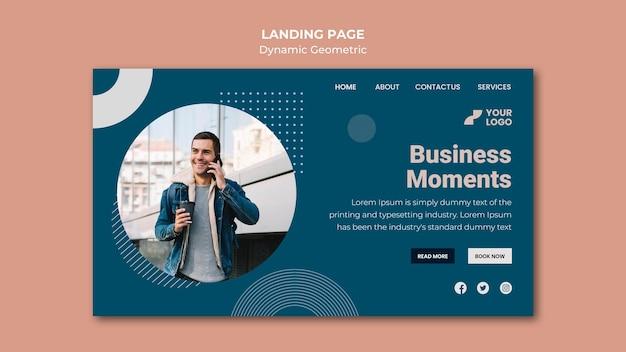 비즈니스 광고 방문 페이지 템플릿 프리미엄 PSD 파일