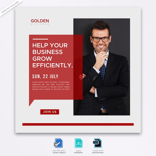 Business ad social media post template