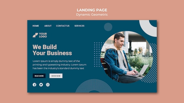Business ad template landing page Free Psd
