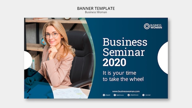 Business banner template concept Free Psd