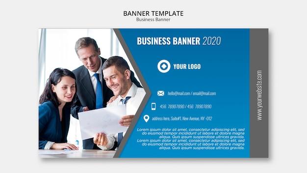 Modello della bandiera di affari Psd Gratuite