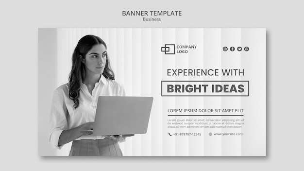 Business banner template Free Psd