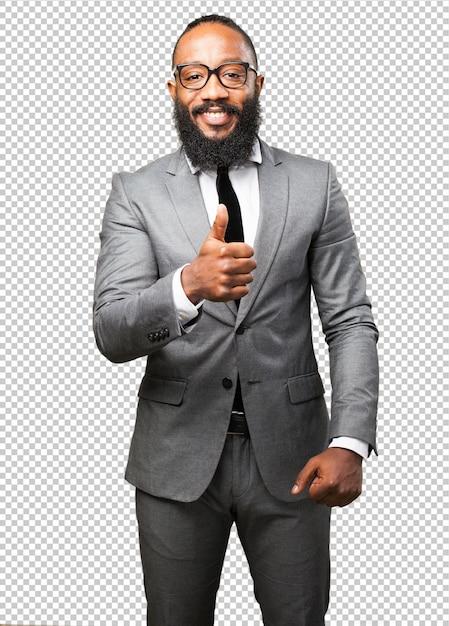 Business black man okay gesture Premium Psd