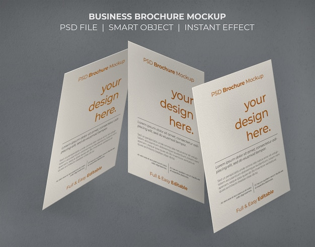 ビジネスパンフレットのモックアップ 無料 Psd
