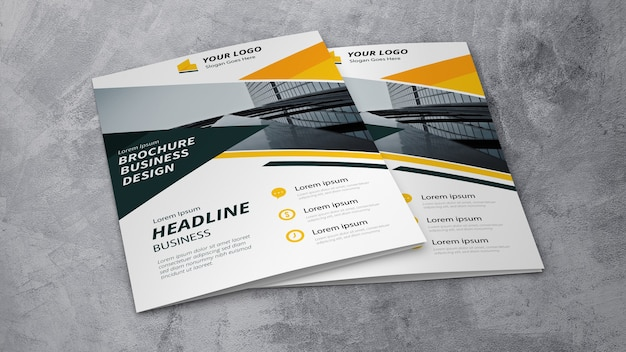 Business brochure mockup Free Psd