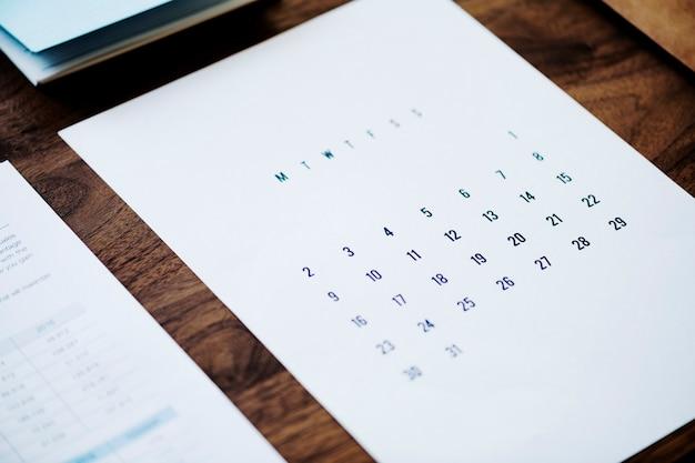 Концепция бизнес-календаря Бесплатные Psd