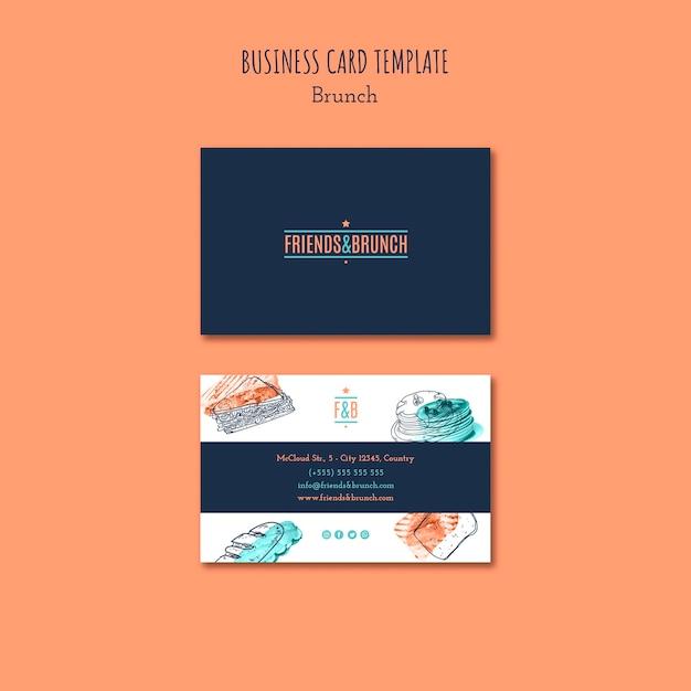 Business card for brunch restaurant Free Psd