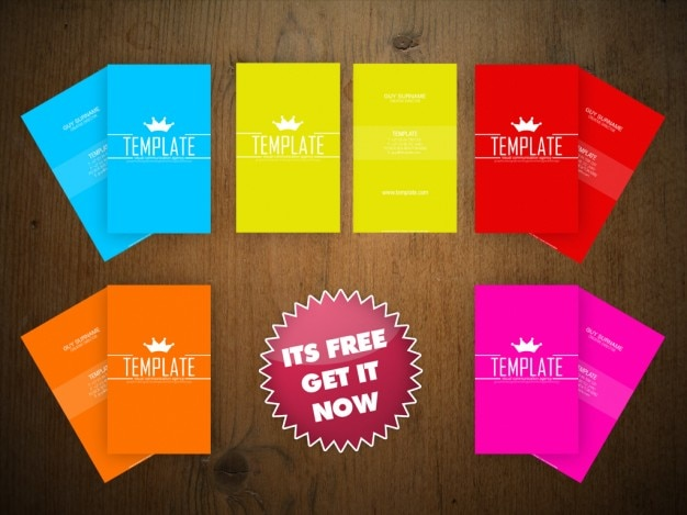 Business card colorfull templates PSD file