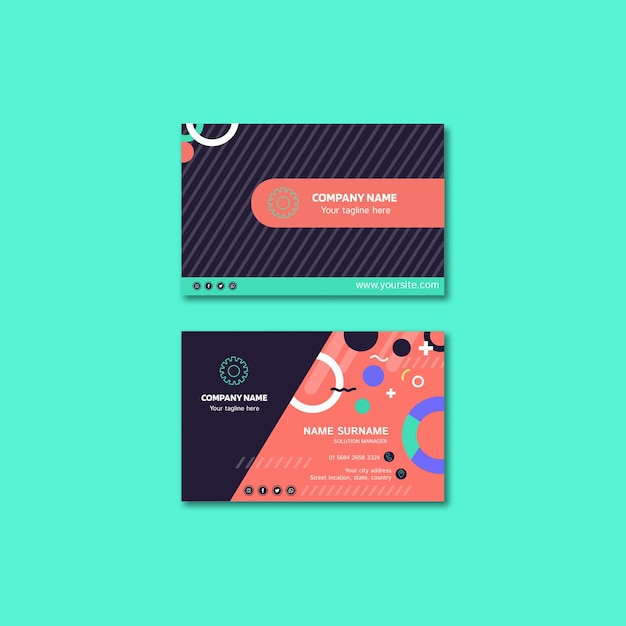 Business card concept for Free Psd